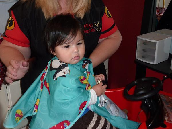 how to cut baby girl bangs